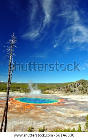 The Grand Prismatic Spring, Yellowstone National Park - stock photo