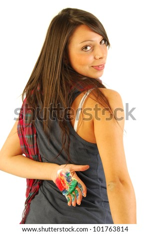 The graphics is woman 152 - stock photo