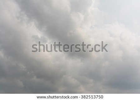 The gray cloud - stock photo