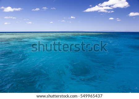 The Great Barrier Reef near Cairns in Australia