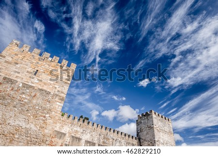 The great castle of Lisbon, portugal