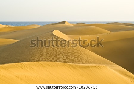 The great desert in Gran Canaria - stock photo