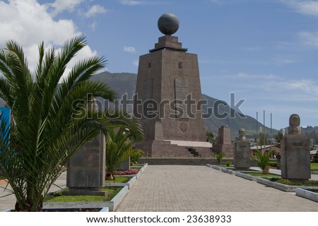 the great ecuator monument in quito, equador