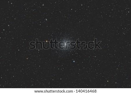 The Great Hercules Globular Star Cluster - stock photo