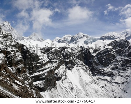The Great Himalayan Barrier - stock photo