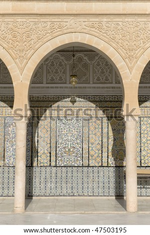 The Great Mosque of Kairouan, Tunisia, africa - stock photo