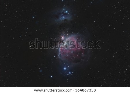 The Great Nebula in Orion - stock photo