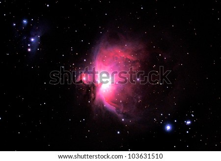 The Great Orion Nebula in the constellation Orion.