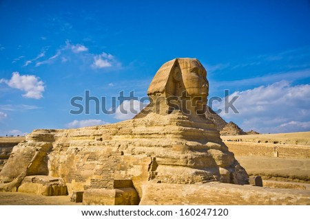 The Great Sphinx in Giza, Egypt - stock photo