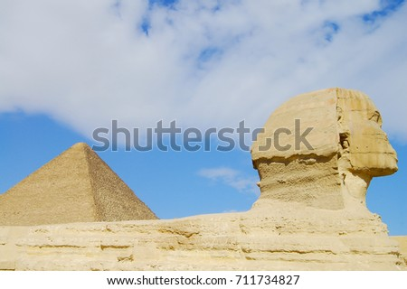 The Great Sphinx & Khufu Pyramid - Cairo