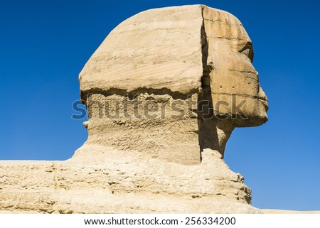 The Great Sphinx of Giza, Cairo (Egypt ) - stock photo