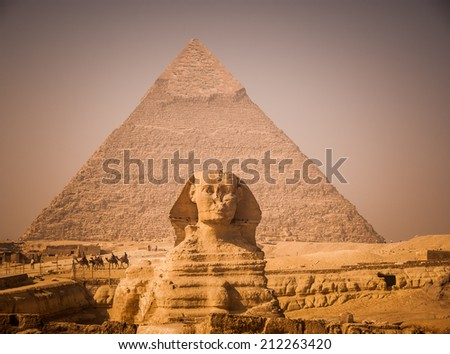 The Great Sphinx of Giza Egypt - stock photo