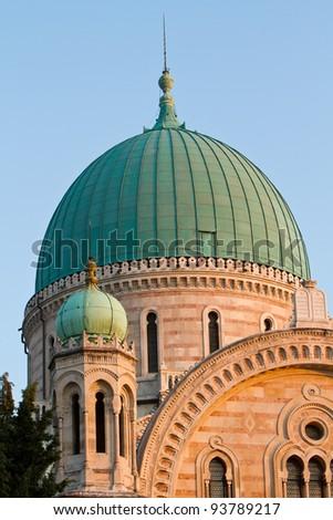 The Great Synagogue, Tempio Maggiore  found in the Jewish Piazza d'Azeglio - stock photo