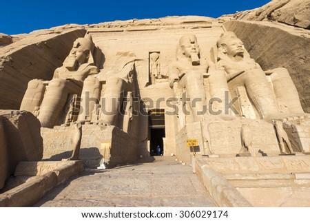 The Great Temple of Abu Simbel (Egypt) - stock photo