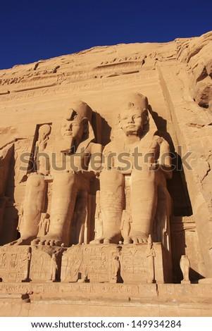 The Great temple of Abu Simbel, Nubia, Egypt - stock photo