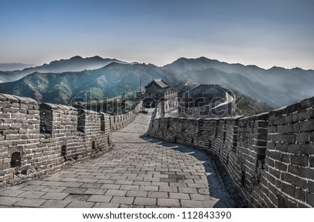 The Great Wall at Mutianyu - stock photo