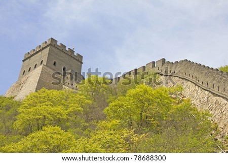 The Great Wall in China - stock photo