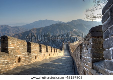 The Great Wall, Mutianyu section, Beijing - stock photo