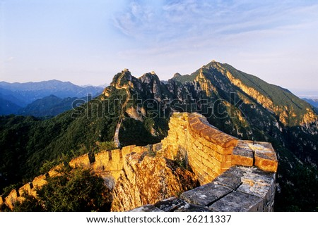 The Great Wall of china at Sunset (Jiankou)