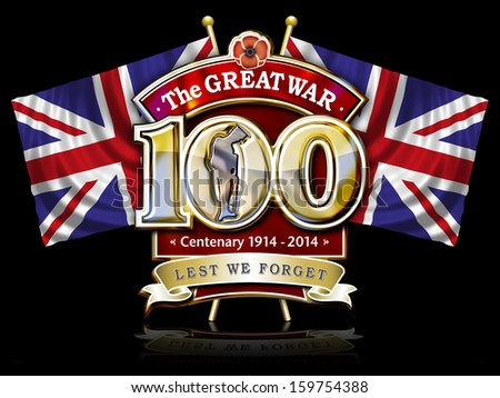 stock-photo-the-great-war-centenary-grap