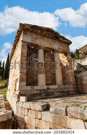 The Greek ancient Thesaurus - stock photo