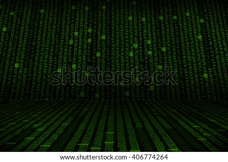 The green alphanumeric code background.  This picture suitable for business and technology use. - stock photo