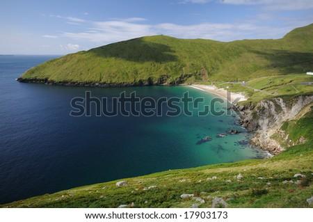 The green coast of Ireland - stock photo