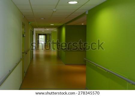 the green corridor - stock photo