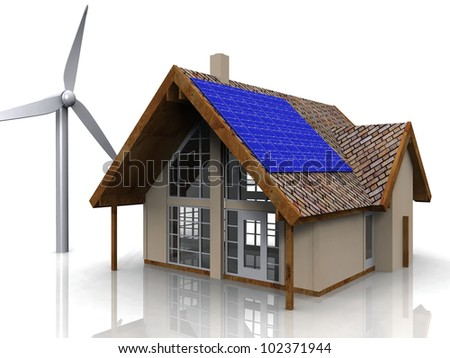 the green house - stock photo