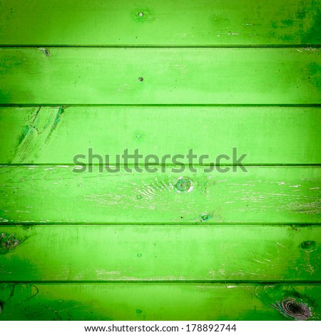The green wood texture with natural patterns - stock photo