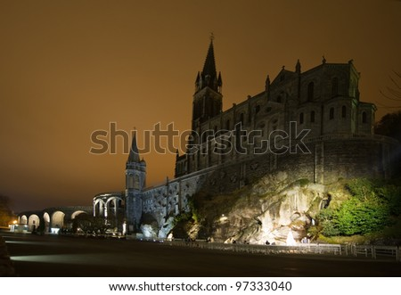 The Grotto at Lourdes - stock photo
