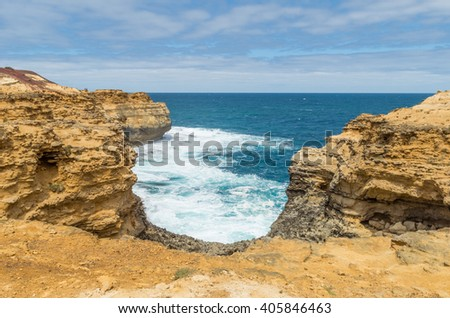 The Grotto is a natural rock formation formed by erosion near Peterborough on the Great Ocean Road in Victoria, Australia.