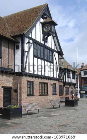 The Guildhall Museum, Sandwich, Kent, UK - stock photo