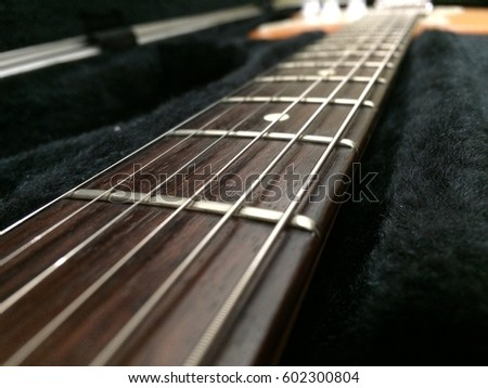 The guitar's neck