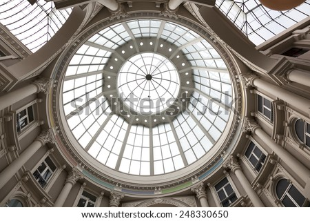 THE HAGUE,NETHERLANDS - AUGUST 16, Dome of the passage shopping center