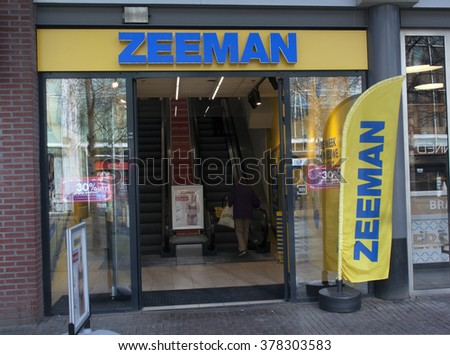 the hague, Netherlands-february 15, 2016: zeeman store in Amsterdam