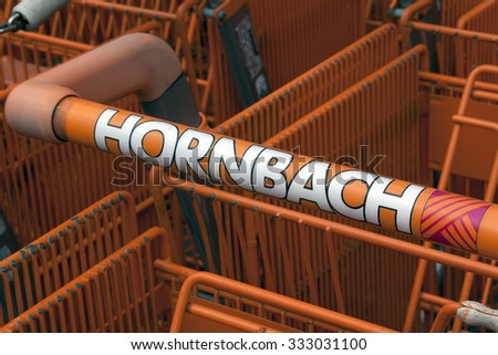 the hague,Netherlands-october 29, 2015: Hornbach is a DIY chain, this shop is located in the Hague Holland.