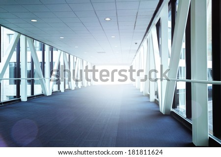 The hall way to light - stock photo