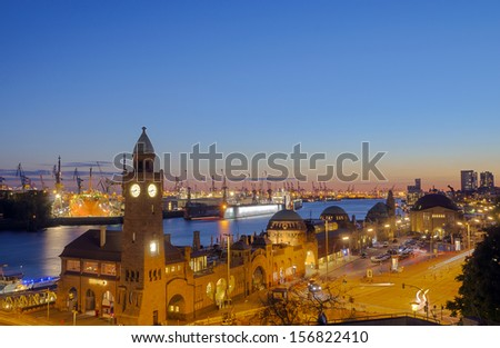 The Hamburg harbor - stock photo