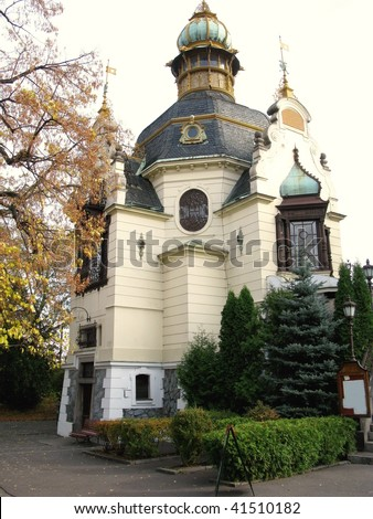 The Hanavsky pavilion, early art nouveau, in the Letna park in Prague in the Czech republic - stock photo
