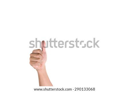 the hand concept symbol white background