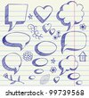The hand drawing illustration on paper sheet - stock photo