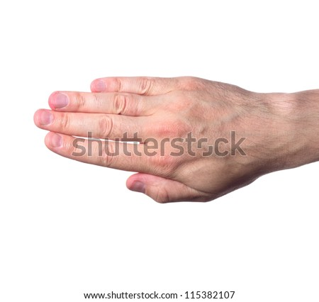 the hand isolated on white