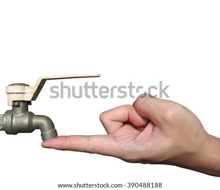The Hand to stop water flow of faucet(conservation)