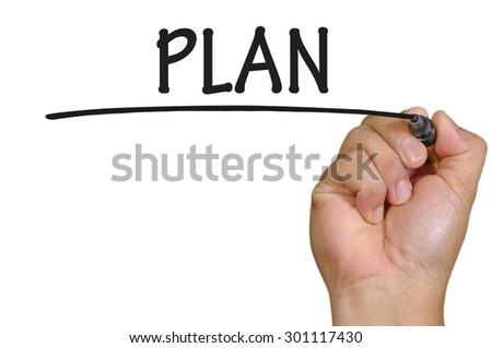 The hand writing plan  - stock photo