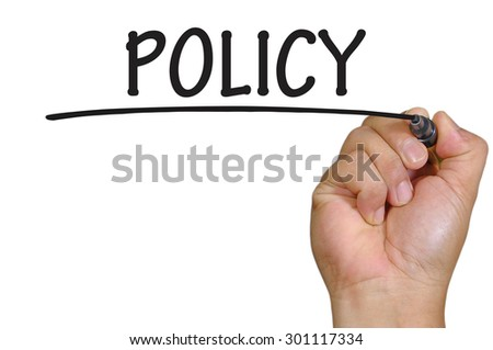 The hand writing policy
