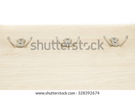 The hangers on the chipboard - stock photo