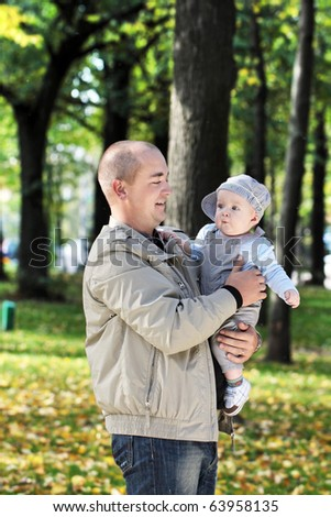 The happy father - stock photo