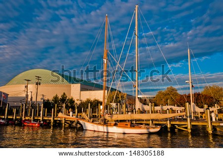 The harbor in Annapolis, Maryland. - stock photo