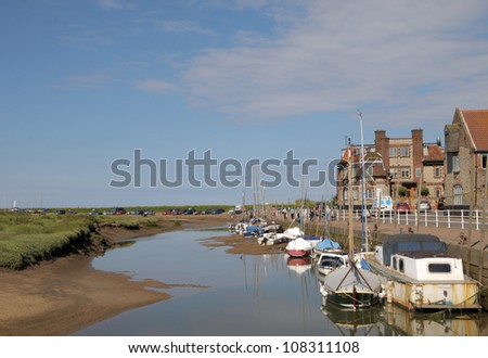 The harbour at Blakeney on the North Norfolk coast - stock photo